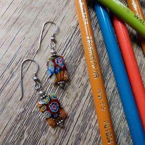 Small glass bead earrings.